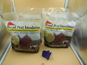 """100 EXTENDING PLASTIC INSULATORS FOR ELECTRIC FENCE 3"""" ROUND WOOD POSTS OR RAILS"""