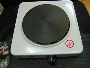 BOXED SINGLE ELECTRIC HOB 1500W HOT PLATE HOTPLATE PORTABLE HEATER STOVE WHITE