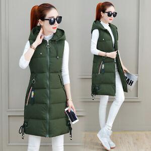 Women Cotton Vest Long 2021 Winter New Fashion Hooded Ladies Cotton Waistcoat