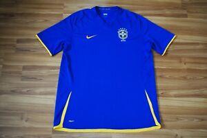 BRAZIL NATIONAL TEAM 2008/2009/2010 AWAY FOOTBALL SHIRT JERSEY BRASIL SIZE XXL