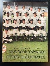 1960 World Series Program New York Yankees vs Pittsburgh Pirates Game 4 Scored