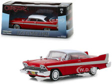 "1958 PLYMOUTH FURY RED ""CHRISTINE"" MOVIE 1/43 DIECAST MODEL CAR GREENLIGHT 86529"