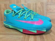 Used🔥 Nike KD VI 6 Kevin Durant Elite Hero Turbo Green Nite Shade Vivid Pink 7Y