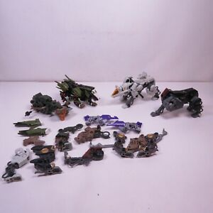 Zoids Vintage Lot Of Action Figures and parts