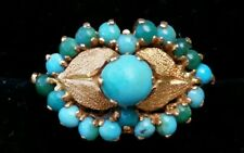 18k Gold Turquoise Ring/Vintage Gold Turquoise Ring/18k Gold Ring/Gold Ring