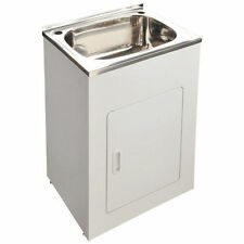 600 x 500 x 870MM 45L SINGLE BOWL STAINLESS STEEL SINK LAUNDRY TUB