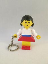 Lego Keychain / Keyring - Homemaker Maxifig Girl Female - Key Chain / Ring