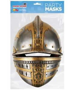 Medieval Knight Helmet Historical Single 2D Card Party Face Mask Fancy Dress Up