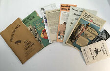 Vintage Fishing Pamphlets Manuals Guides Reel Fly Tying Herter's Drewry's Lot 11