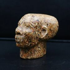 Stunning Large Antique Marble Egyptian Queen Nefertiti Mask Bust Figure