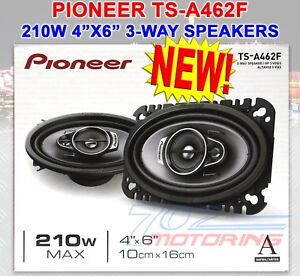 """PIONEER TS-A462F 4"""" x 6"""" 3-WAY COAXIAL SPEAKER SYSTEM 210W MAX 4 OHM A-SERIES"""
