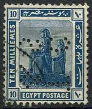 """Egypt 1921-2 SG#92, 10m Blue, """"TC&S"""" Used #D90701"""