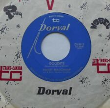 PIERRET BEAUCHAMP Goodbye (THE BEATLES) NM- CANADA 1967 FRENCH COVER Dorval 45