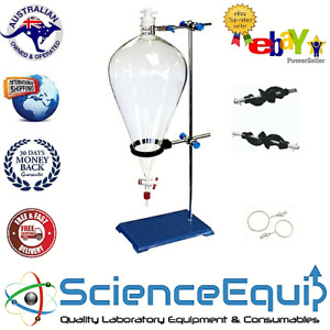 Separatory Separating Funnel Accessories Kit Funnel Holder & Stand for upto 1ltr