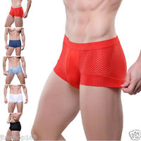 Sexy Men's Boy Underwear Mesh Boxer Briefs Shorts Trunks Breathable Underpants