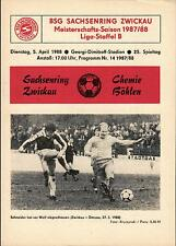 DDR-Liga 87/88 ZEPA Sajonia anillo Zwickau-BSG Chemie Böhlen, 05.04.1988