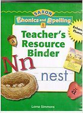 Grade 1 Saxon Phonics and Spelling Teacher's Resource Binder Edition 1st