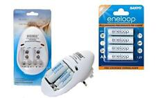 AA/AAA/PP3 9v BATTERY CHARGER+ 4 x AA ENELOOP LR6 Rechargeable Batteries