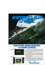 PUBLICITE ADVERTISING  1981   MOULINEX  four micro-ondes