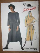 VINTAGE SEWING PATTERN VOGUE 1439 MISSES' DRESS ALKE BOKER SIZE 14
