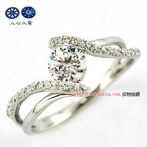 ViVi Ladies Anniversary sterling silver signity Diamond Ring 8466a
