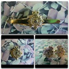 Royal Marines Pith Helmet Lapel / Cuff Links / Tie Bar Gift Set RM