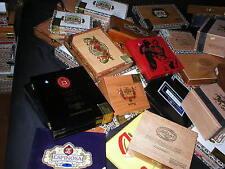 20 VARIOUS BRANDS EMPTY WOODEN CIGAR BOX LOT FUENTE PADRON LIGA WOOD CUBA CRAFTS