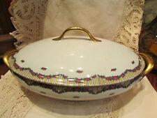 ancienne soupiere porcelaine de limoges epoque 1925 decor floral