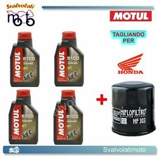 TAGLIANDO FILTRO OLIO + 4LT MOTUL 5100 10W40 HONDA CBR 1100 BLACK BIRD 2004