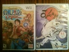 Lot of 2 Wii games, One piece unlimited Adventure, and Okami for Wii