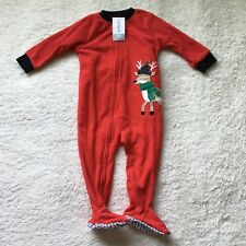 Carter's Christmas Holiday Sleeper Unisex 12 Months New With Tags