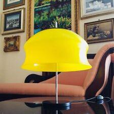 🔴 Lampada STILNOVO con grande diffusore plexiglass colore giallo orig. anni 50