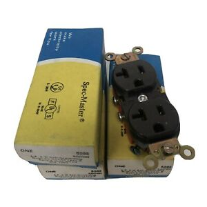 Lot/3 Leviton 5362 Industrial Grade Tamper-Resistant Duplex Receptacle Brown