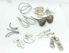 LOT of 9 Sterling Silver Dangle Earrings, some Taxco Mexico, 67.0g