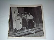 Vintage Negative Red Cross Nurses in Uniform Holding Camera 1950s Nurse