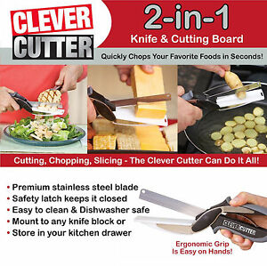 Clever Smart Cutter 2-in-1 Knife & Cutting Board Scissors