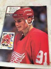 Beckett Hockey Magazine Monthly Price Guide Sergei Fedorov May 1991