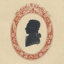 7 . Silhouetten Collection de Silhouettes - Gotha 1791- Frédéric Christian, Pr