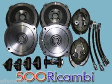 FIAT 500 D/F FINO AL 1968 KIT FRENI 4 TAMBURI, 8 GANASCE, 1 POMPA FRENI, 4 TUBI
