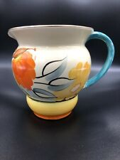 Grays Pottery Jug - Floral Yellow and Orange
