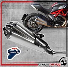 Termignoni Terminale Scarico Inox Omologato 80dB Ducati Diavel 2011 11>14