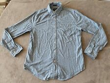 MENS BLUE CHECK ABERCROMBIE & FITCH LONG SLEEVE SHIRT - SIZE MEDIUM - MUSCLE
