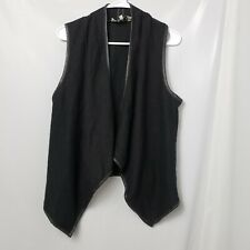 BB Dakota Women's Black Wool Vest Size Small
