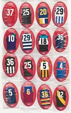 2009 AFL FOOTY KICKERS FULL SET OF 16 REDS