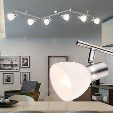 Decken Wohnraum Lampe Strahler schwenkbar Leuchte Glas silber Schlaf Büro Zimmer