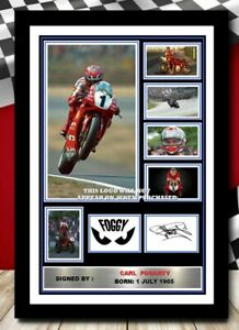 (474)  carl fogarty superbikes signed photograph framed/unframed reprint @@@@@@@