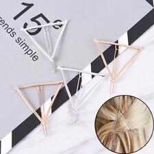 2x mujeres minimalista estilo geométrico triángulo horquilla clip de pSE