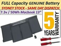"""Battery For Macbook Air 13"""" A1369 2011 A1466 2012, 2013-2017 A1405 A1496 AUSSIE"""