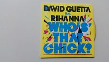 DAVID GUETTA ft RIHANNA  who's that chick   RARE ISRAELI PROMO CD SINGLE