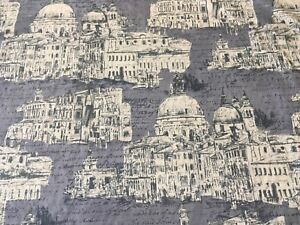 Edinburgh Weavers Venice Charcoal Cotton Print Fabric